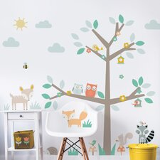 Woodland Tree & Friends Wall Sticker