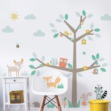 Woodland Tree & Friends Wall Sticker