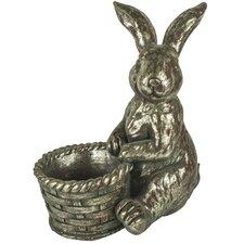 Pflanzfigur George Rabbit aus Keramik und Kunstharz