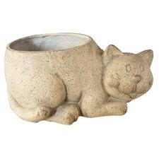 Pflanzfigur Charlie Cat aus Keramik und Kunstharz