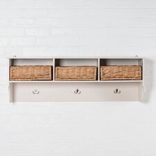 Newport 3 Basket Wall Mounted Coat Rack