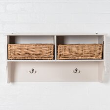 Newport 2 Basket Wall Mounted Coat Rack