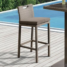 """Barksdale Outdoor 28"""" Bar Stool with Cushion"""