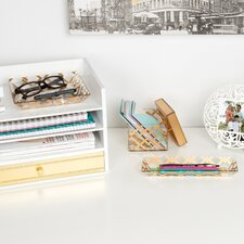 Luxe Lattice 3 Piece Desk Supplies Organizer Set