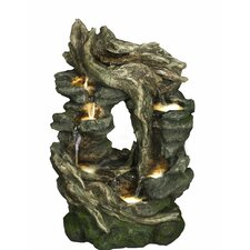 Infinity Water Cascade Resin Fountain with Light