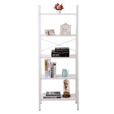 "5 Tier 62"" Leaning Bookcase"