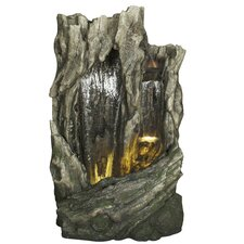 Polyresin Rock Face Waterfall Fountain with Light