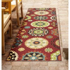 Barnsdale Brick Red Area Rug