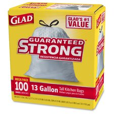 Glad Tall Kitchen Drawstring 13-Gal. Trash Bags, 100 Count