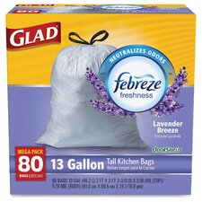 Glad OdorShield Drawstring 13-Gal. Trash Bags, 80 Count