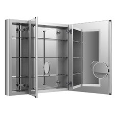 "Verdera Aluminum Medicine Cabinet with Adjustable Flip Out Flat Mirror, 40"" W x 30"" H"