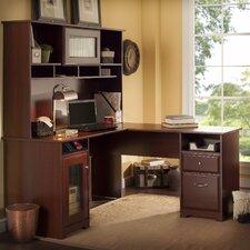 Toledo L-Shaped Executive Desk with Hutch