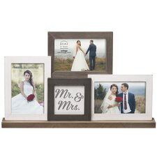 'Mr. & Mrs.' Wedding Mantel Collage Picture Frame