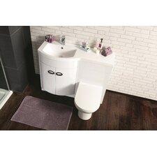 D Shaped Bathroom Furniture Set