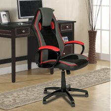 Indy Racing High-Back Leather Executive Chair