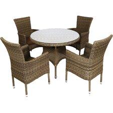4-Sitzer Gartengarnitur Langton mit Polster