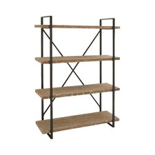 "Giulio Metal Wood 67"" Etagere Bookcase"