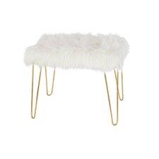 Metal Fur Accent stool