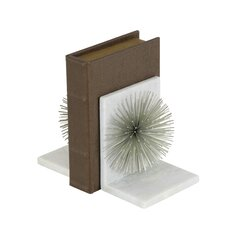 Metal Marble Star Bookends (Set of 2)