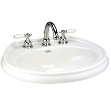 "Waverly Speciality Self Rimming Bathroom Sink with 4"" Faucet Center"