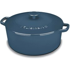 Round Enameled Cast Iron 7 Qt. Covered Casserole