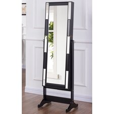 Chloe Free Standing Jewellery Armoire with Mirror