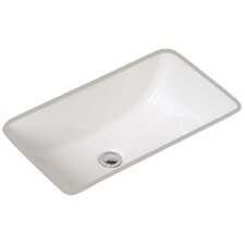 Petite Covington Rectangular Undermount Bathroom Sink with Overflow