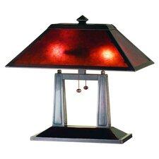 "Van Erp Amber Mica Oblong 20"" Table Lamp"
