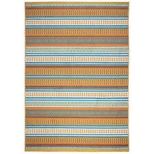 Terry Orange/Blue Indoor/Outdoor Area Rug