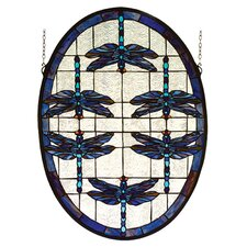 Dragonflies Stained Glass Window