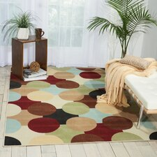 Kelsey Red/Green Area Rug