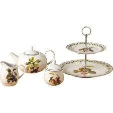 Orchard Fruit 4 Piece Porcelain Tea Set