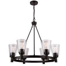 Clarence 6-Light Shaded Chandelier