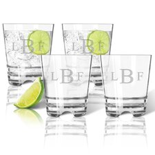 Personalized Tritan Double 12 oz. Old Fashioned Glass (Set of 4)
