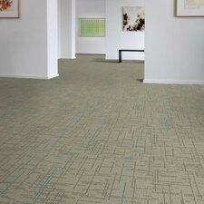 "Saga 24"" x 24"" Carpet Tile in Gray/Blue"