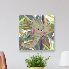 Peeking Jungle Buddies - Elephant Canvas Art