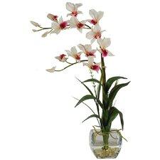 Silk Dendobrium Flowers in Vase