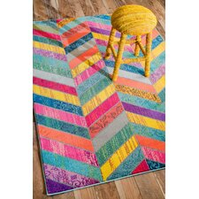 Fleming Pink/Green/Yellow Area Rug