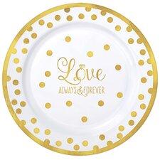 Wedding Premium Plastic Dinner Plate (Set of 20)