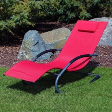 Rocking Wave Chaise Lounge with Pillow