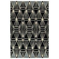 Origami Hand-Tufted Black Area Rug