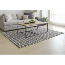 Wool Blend Hand-Woven Gray/White Area Rug