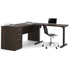 Embassy Electric Adjustable Height L-Shape Computer Desk