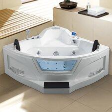 """Ariel 61"""" x 61"""" Whirlpool Bathtub"""