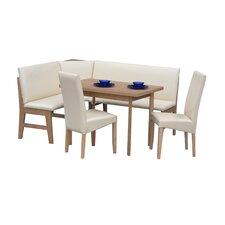 Eckbankgruppe Zürich mit ausziehbarem Tisch, 2 Stühlen und einer Bank