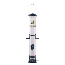 "21"" Metal Seed Tube Bird Feeder"