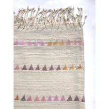 Katherine Pastel Silk and Wool Throw