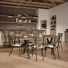 Darcelle 5 Piece Metal and Aged Wood Dining Set