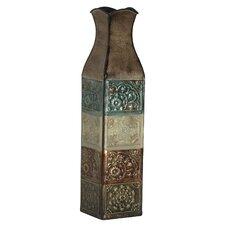 Embossed Metal Suzani Tile Vase