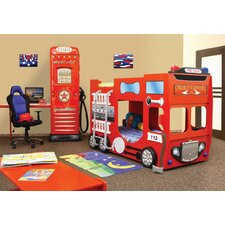 Fire Truck Toddler Bunk Bed